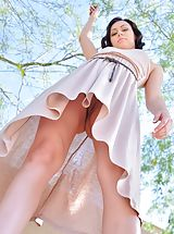 white upskirts, Soraya Spread for the Workers