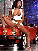 Spike Heels, Mahlia Milian spread her gorgeous cocoa colored legs just for you!