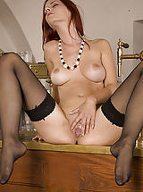 stockings, Ariel in Bartender - Ariel