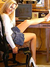 High Heels Legs, Lia 19 gets naughty at her desk