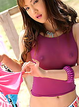 Asian Women halle 02 laundry see through shirt