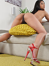 Red Heels, Wet Pussy Shots really close, set no 900 Ria Rodriguez