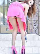 High Heel Mules, Mila Pink Penetration