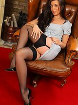 Secretary Sex, Natalia knows exactly how to impress her boss and brightens his day with a sexy striptease.