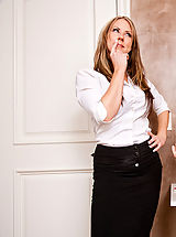 Busty Secretary, Carolyn Reese fucks and sucks a hard cock.