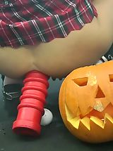 mini skirts, Hot Kink Jo helloween monster dildo vampire upskirt Monster Huge Sex Toys