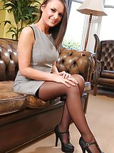 Sexy Legs, Siobhan the sexy secretary looks great in black stockings