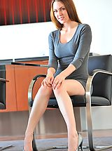 Secretary Sex, Meghan gray dress nudes