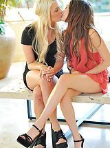 Mini Skirts, Cassie and Chloe lesbian fun
