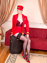 Secretaries, Sophisticated red haired lady reveals her inner freak at Anilos