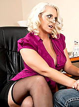 Office Sex, Mandy Sweet,Seduced By A Milf Johnson, Mandy Sweet, Cougar, Stranger, Chair, Desk, Floor, Office, Big Butt, Big Breasts, Blonde, Blow Job, Curvy, Facial, Fake Breasts, Glasses, high heel pumps, Mature, Shaved, Stockings, Tattoos,