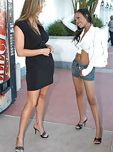 Wearing High Heels, Instead of doing the normal grocery shopping Kelly brought home the other dark meat, Lacey.