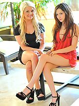 Stiletto Shoes, Cassie and Chloe lesbian fun