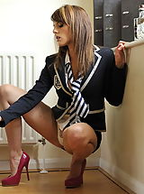 Upskirt Pics: Secretaries in High Heels Headmistress Mackenzie 2 in July 2011