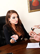 Sexy Secretary, Nika Noir fucks Will Powers to keep her job.