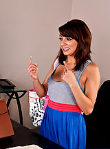 Lexi Bloom is happy to have gotten the referral for her internship by her professor, but in order to keep her internship, Professor Wood refers her to his cock.