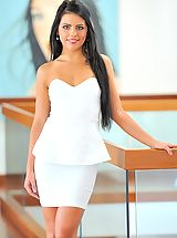 Angelic Sweetheart Arianna is gorgeous in white