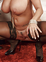 white stockings, Ava Addams