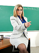 Sara Jay shows her student what it's like to fuck a teacher with huge tits.