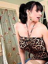 kurzerrock, Brunette cougar has her way with a young cock.
