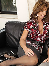 Busty Secretary, Busty hot milf Deauxma is horny after her divorce so for mothers day she gets to swallow her son's friends cock and he pumps her pussy with his big cock.