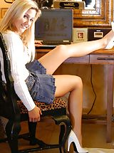 Lia 19 gets naughty at her desk