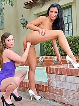 Green Heels, Erotic Nude Girl Arianna plus Natalie Deep Hands II
