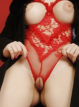 lingerie shop, Heather C2  nude
