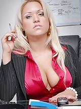 Busty Secretary, Big Boobs Ceo, Business Fluffer