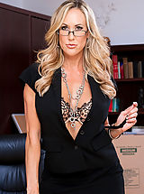 Sexy Secretary, Brandi love teaches lessons on sucking dick and fucking.
