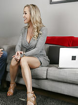 Busty Secretary, Brandi Love