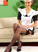 Naughty Office, see this cheeky maid tease her way out of her uniform
