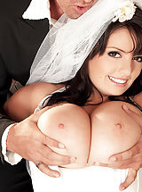 A Hot Ride For A Busty Bride